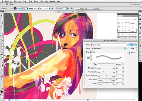 Adobe illustrator, software de diseño gráfico profesional que trabaja con vectores, imágenes y texto