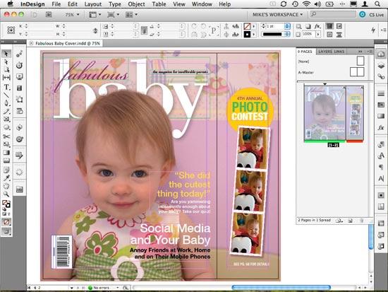 Adobe InDesign, software de diseño editorial que sirve para hacer revistas que van a imprimirse