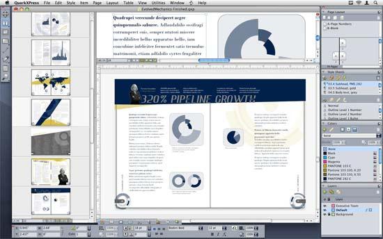 QuarkXpress, software para diseñar periódicos y revistas. Aunque sus versiones van más allá