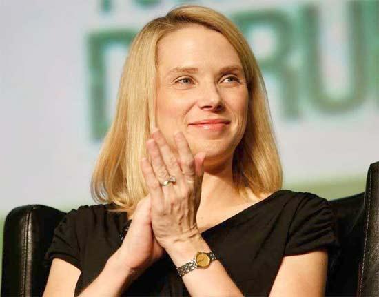 Marissa Mayer contenta por Yahoo y su incremento de visitas