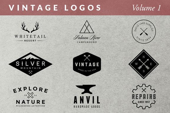 Logos vintage nuevos sellos