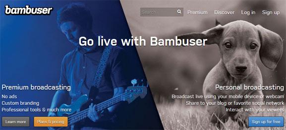 Bambuser, plataforma para transmitir en streaming ya sea por el smartphone o por el ordenador