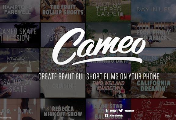Cameo, aplicación para iOS para grabar videos