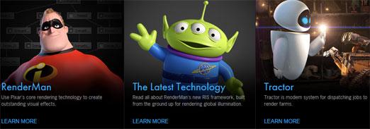 RenderMan para animación, programa que utiliza Pixar