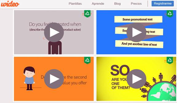 Wideo, plataforma gratuita para crear animaciones en línea y hacer fantásticos videos