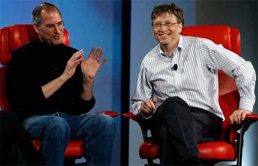 Bill Gates y Steve Jobs, 20 años de diferencias estratégicas fueron analizados por profesores de harvard
