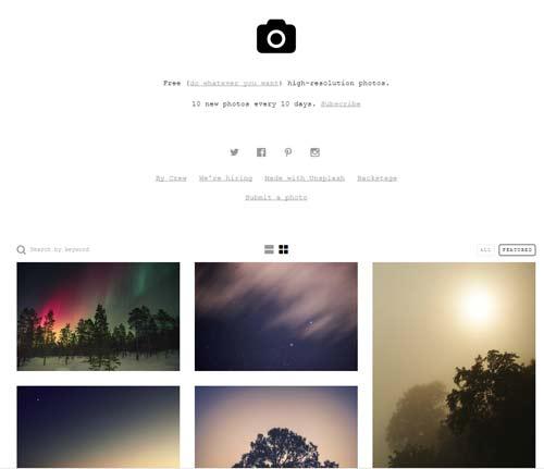 bancos de fotos online