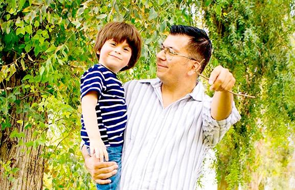 Lorenzo y Miguel, foto de padre e hijo